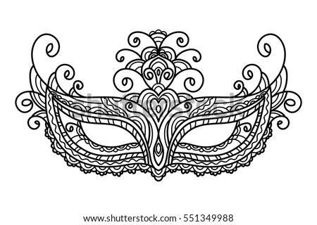 vector carnival mask stock vector  shutterstock