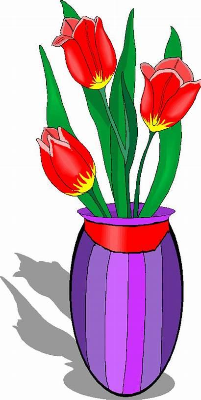 Vase Clipart Flowers Clip Flower Tulips Cliparts