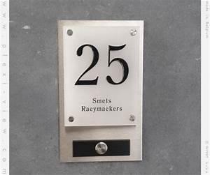 Plaque Numero Maison Design : plexi view sonnetes num ros de maison et les plaques l gantes numero de maison sonnette ~ Melissatoandfro.com Idées de Décoration