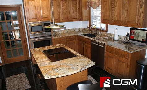 golden classic granite kitchen countertops