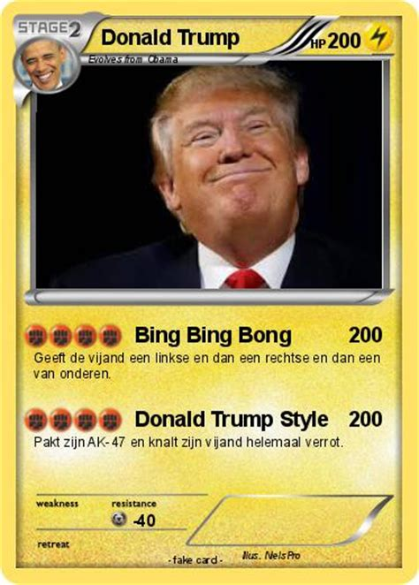 What are the banned pokemon cards of back in the day? Pokémon Donald Trump 853 853 - Bing Bing Bong - My Pokemon Card