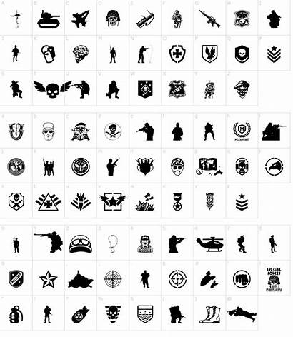 Font Special Forces Fonts Characters Character Map