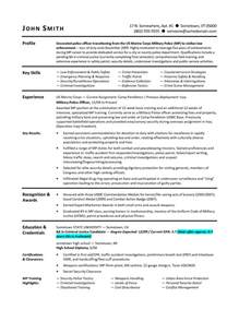 To Civilian Resume Template by From To Civilian Resumes Resume Format