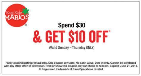 east side mario s canada s day deals 10 30