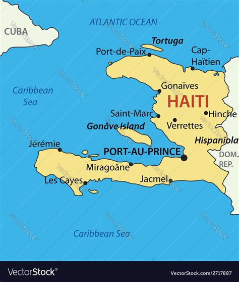 republic  haiti map royalty  vector image