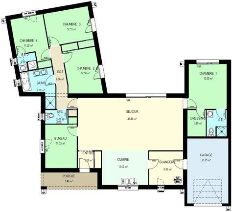 plan maison 3 chambre plain pied construction 86 fr gt plan maison traditionnelle de 156 m
