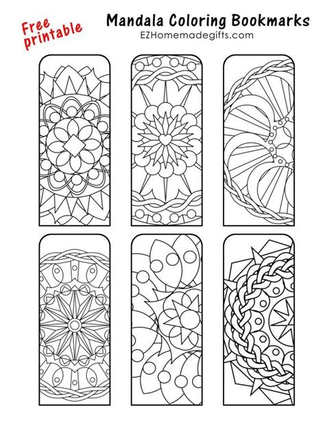 by merche gutierrez mandalas bookmarks free printable bookmarks diy crafts bookmarks