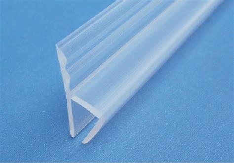H Frameless Balcony Glass Door Seal Strip Waterproof