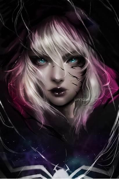 Spider Gwen Venom Marvel Portrait Comics Blonde