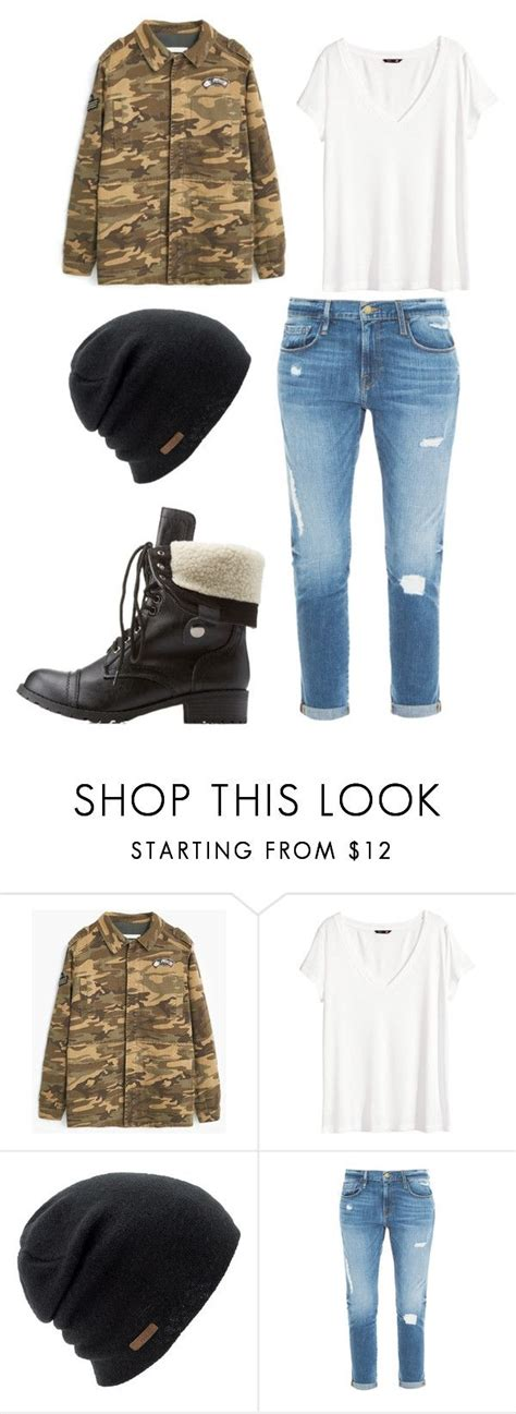 Bts run inspired outfit by minhanh-tran on Polyvore featuring Hu0026M MANGO Frame Denim Charlotte ...