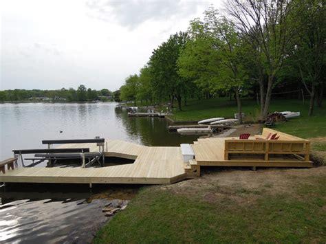 lake lorelei ohio boat dock deck traditional deck