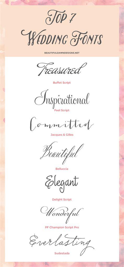 top  fonts  weddings font series  beautiful