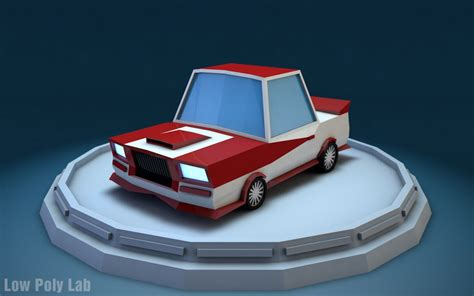 Low Poly Racing Car  Free 3d Models By Low Poly Lab