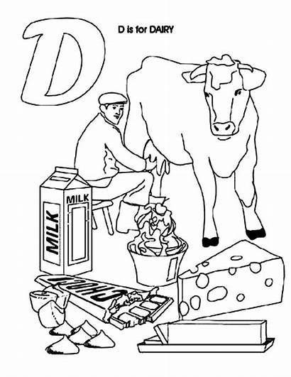 Dairy Coloring Cow Pages Sheets Netart Printable