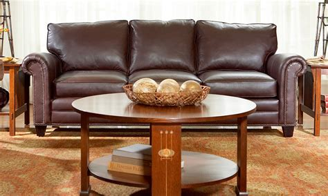 Malden Sofa, Stickley Fine Leather Collection
