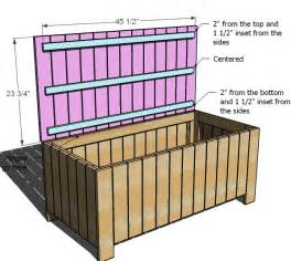 white outdoor storage bench diy projects