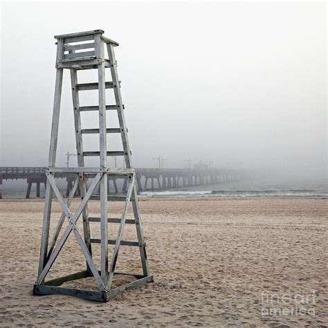 empty lifeguard chair photograph by skip nall