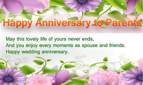 wedding anniversary messages  parents wishes