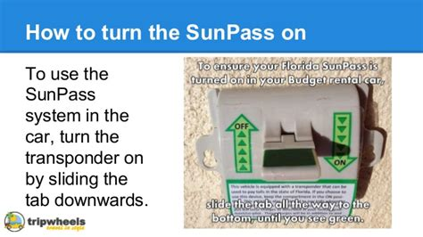 How To Use A Florida Sun Pass When Hiring A Rental Car In