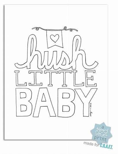 Nursery Hush Printable Printables Coloring Colour Hope