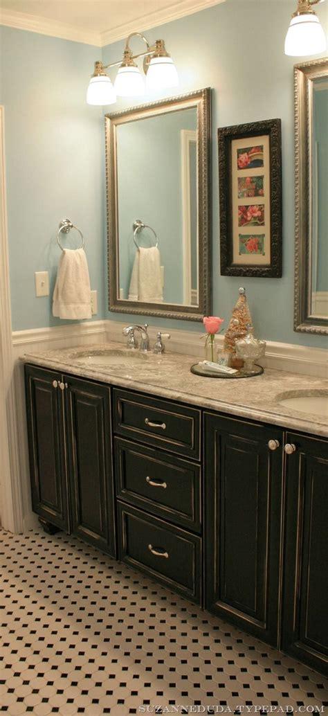 Bathroom Cupboards by Vintage Inspired Farmhouse Bathroom Pink Roses Bath