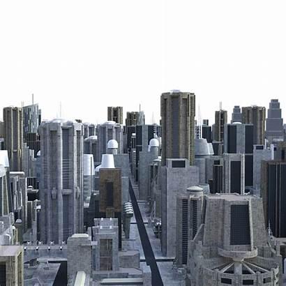 Future Skyline Futuristic Building Spaceship Architecture Fiction
