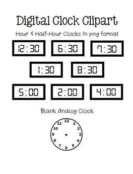 telling time practice worksheets digital hour half hour clip art clocks