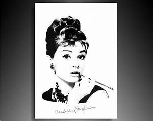 Leinwandbilder org Audrey Hepburn Leinwand Bild fertig gerahmt! Leinwandbilder Wandbilder