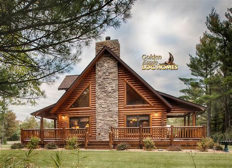 covered porch house plans golden eagle log homes log home cabin pictures photos