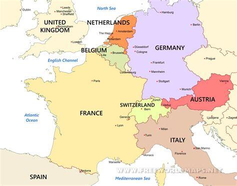 Europe Occidentale Carte by Western Europe Maps By Freeworldmaps Net