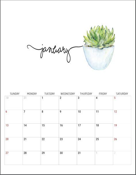 printable calendar  organized  year part