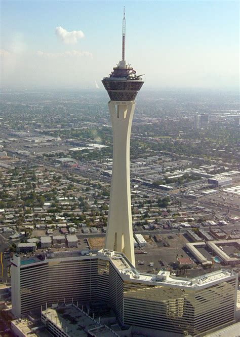 stratosphere observation deck height stratosphere las vegas