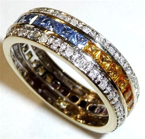 14 k 585 white gold complete memory ring eternity with