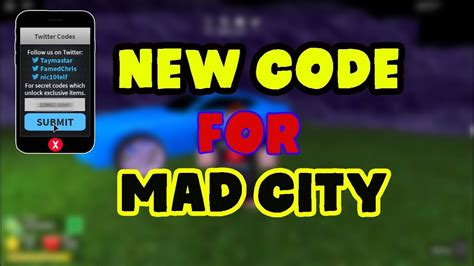 code roblox mad city codes