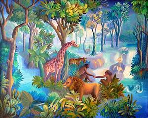 Garden of Eden by Charles Dufranc | Naïve Art 4 ...