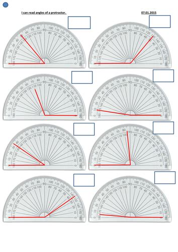 Reading An Angle On A Protractor Differentiated By Jorogers03  Teaching Resources