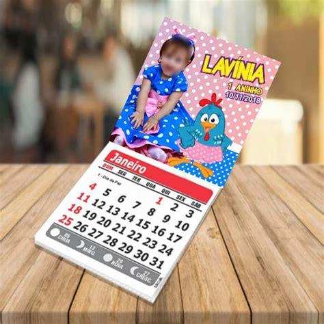 Foto imã com calendário galinha pintadinha no Elo7