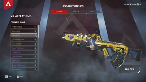 apex legends todas las skins legendarias de armas