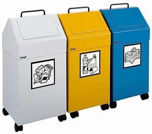 Poubelle De Tri Selectif : poubelle de tri s lectif antifeu ab 45 f en acier sur ~ Farleysfitness.com Idées de Décoration