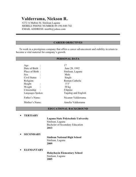 sle of application letter for ojt bsit 28 images sle