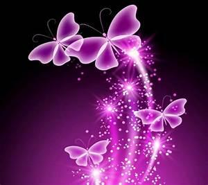 Neon Butterflies Butterflies & Animals Background