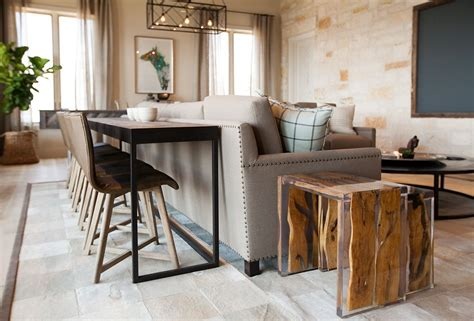 Sofa Dining Table by Console For Possum Kingdom Tracy