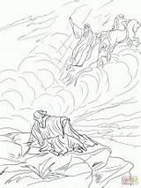 Elijah Chariot Coloring Bible Fire Clip Fiery Printable Chariots Preschool Crafts sketch template
