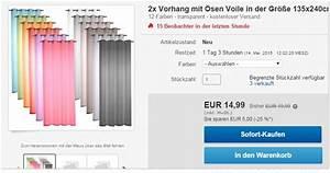 Günstige Vorhänge Online Kaufen : g nstige gardinen online 2 vorh nge 14 99 ~ Bigdaddyawards.com Haus und Dekorationen