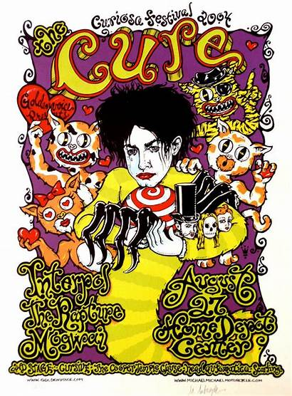 Cure Poster Concert Motorcycle Michael Tour Interpol