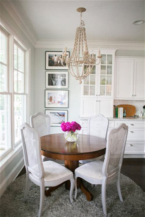 grey french cane  dining chairs transitional