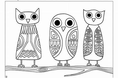 Coloring Sheet Owls Joel Owl Pages Printable