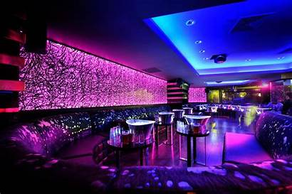 Club Night Neon Background Lights Lounge Desktop