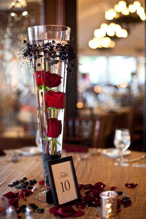table centerpieces submerged red roses as a centerpiece work ideas pinterest wedding rose petals and flower