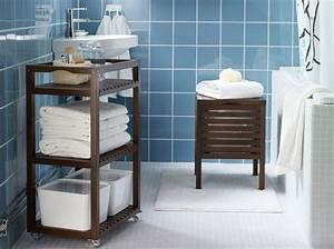 Meuble Pour Petite Salle De Bain : petit meuble salle de bains notre s lection elle d coration ~ Melissatoandfro.com Idées de Décoration